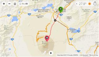 富士登山競走2014ルート